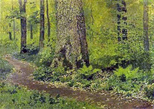 """Описание картины Исаака Левитана """"Тропинка в лиственном лесу"""""""