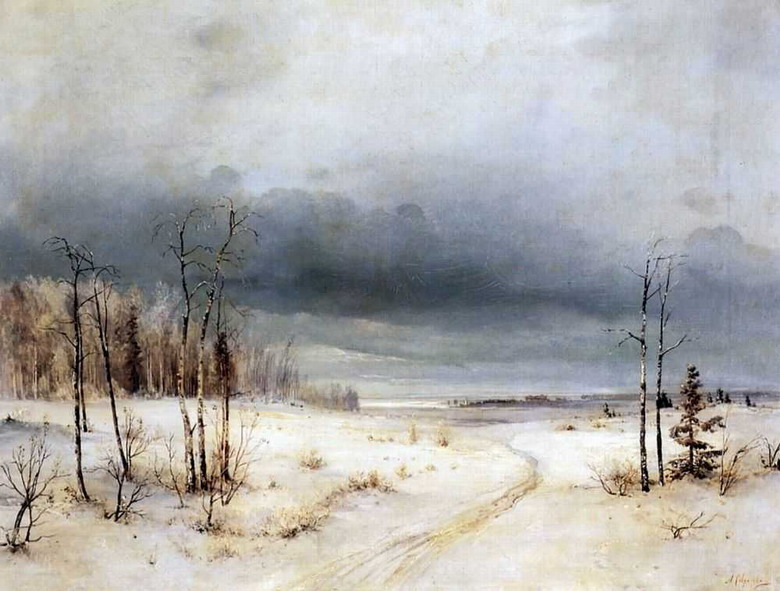 "А.Саврасов, ""Зима"", конец 1870-х - начало 1880 гг."
